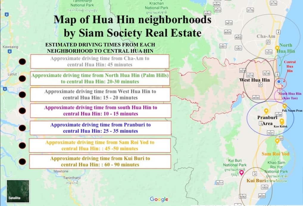 Free Hua Hin Map | Map Of Hua Hin |